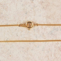 """(P-16) CHAIN, FINE, GOLD PLATED, 16"""""""