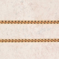 """(P-3) CHAIN, HEAVY, GOLD PLATED, 30"""""""
