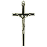 "(73-40) 5"" BLACK ENAMEL CRUCIFIX, BOX"