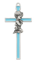 "(73-41) 5 "" BLUE EPOXY BOY CROSS"