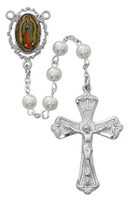 (R615RF) PEARL GUADALUPE ROSARY