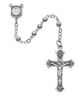 (1-4LF) 4MM ALL STERLING ROSARY