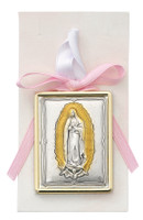 (PW23) PINK GUADALUPE CRIB MEDAL