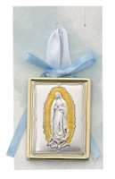 (PW24) BLUE GUADALUPE CRIB MEDAL
