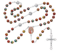 (P179R) RED VENETIAN GLASS GUADALUPE