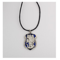 (D764LC) BLUE PEW ST. MICHAEL ON CORD