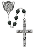 (R639DF) BLACK WOOD LORD'S PRAYER