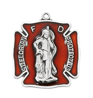 "(L763) SS ST FLORIAN BADGE 24"" CHAIN"