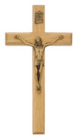 "(80-07) 8"" OAK CRUCIFIX, BAGGED"