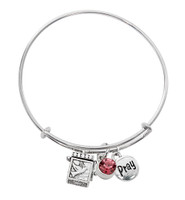 (BN639L-RS) PINK PRAYER BOX BANGLE