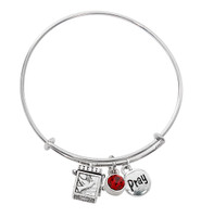 (BN639L-RU) RUBY PRAYER BOX BANGLE