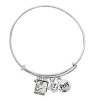 (BN639L-CR) CRYSTAL PRAYER BOX BANGLE
