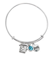 (BN639L-AQ) AQUA PRAYER BOX BANGLE