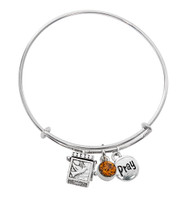 (BN639L-TO) TOPAZ PRAYER BOX BANGLE