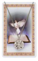"""(PSD768) 18"""" RCIA MEDAL & PRAYER CARD"""