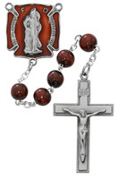 (R674DF) 8MM RED FIREFIGHTER ROSARY