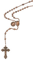 (P251C) COPPER PLATED ST. BEND ROSARY