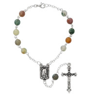 (AR86C) 6MM INDIA AGATE AUTO ROSARY