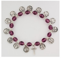 (BR852) 8MM PURPLE STATIONS OF CROSS B