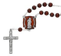(AR87C) ST FLORIAN RED AUTO ROSARY