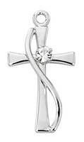 "(L9191) STERLING CROSS 18"" CH & BX"