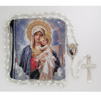 (R688RP) PEARL MOTHER & CH DECAL ROSARY