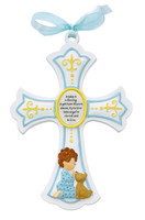 "(73-47) 7"" BABY BOY RESIN CROSS"