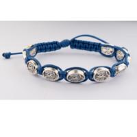 (BR851C) BLUE CORDED ST. MICHAEL BRACEL