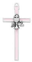 "(75-42X) 5"" PINK EPOXY COMMUNION CROSS"