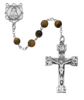 (169ASF) 6MM GENUINE TIGER EYE ROSARY