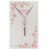 """(NK150C) 18"""" PINK BLESSED PENDANT"""