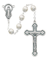(263C) 7MM PEARL CAPPED ROSARY