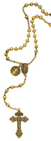 (P250X) GOLD PLATED ST. BEND ROSARY