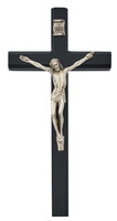 "(80-184) 10"" BLACK CRUCIFIX, BAGGED"