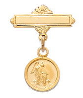 (422JT) G/SS GUARDIAN ANGEL BABY PIN/T