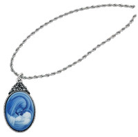 (RC751C) RF MOTHER/CHILD CAMEO PENDANT