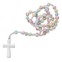 (P355R) KID'S MULTI COLOR CROSS ROSARY