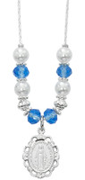 """(NK168C) 18""""-20"""" BLUE & PEARL NECKLACE"""