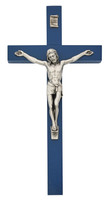 "(81-79B) 10"" BLUE  EI-8 CRUCIFIX, BOXED"