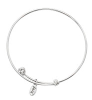 (BN902) BANGLE W/TWIST OFF CRYSTAL &