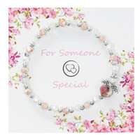 (BR862C) PINK/CRY YOUTH ANGEL BRACELET