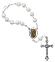 (AR95C) GUADALUPE AUTO ROSARY/CARDED