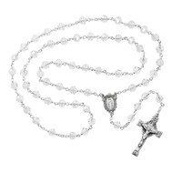 (R400DF)  7MM CRYSTAL TINCUT ROSARY