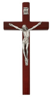 """(80-183B) 10"""" CHERRY STAINED CRUCIFIX"""