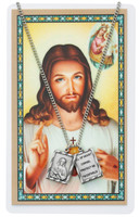 (PSD611) SCAPULAR PENDANT & PRAYER CARD