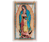 (PSH785) PEWTER GUADALUPE CARD & MEDAL