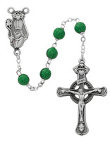 (993DF) 7MM GREEN ST PATRICK ROSARY