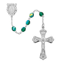 (880-EMKF) 6MM EMERALD ROSARY