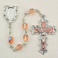 (879-RSKF) 6MM ROSE ROSARY