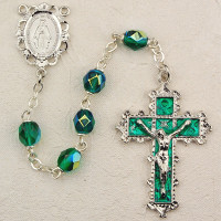 (879-EMKF) 6MM EMERALD ROSARY